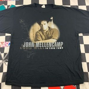 John Mellencamp In Your Town Tour T-Shirt Large